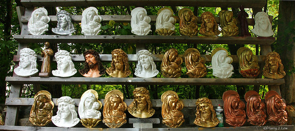 What I found:  religious statues of Jesus and Mary in a wide array of styles. All priced for clearance.