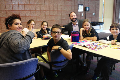 Adat Shalom Clergy Visit with Students at Hillel Day School