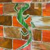 Front door gecko, Adrienne and John's house