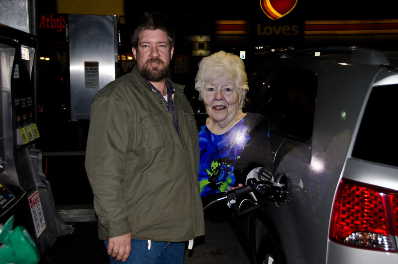 Oh Bradley let me help to pump the gas.  I am soooo excited to be able to join you on the trip to San Antonio.