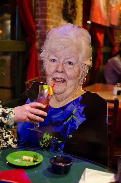Mary was heard to say..........  After all that travel and register training I need some sangria at MiTierra.