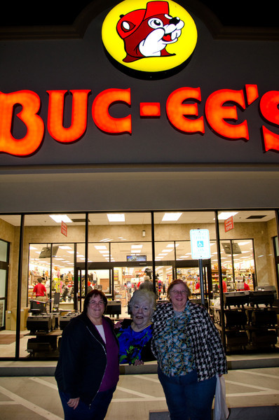 Mary decided to not stay and work at Buc-ees  and continue on with us to San Antonio.