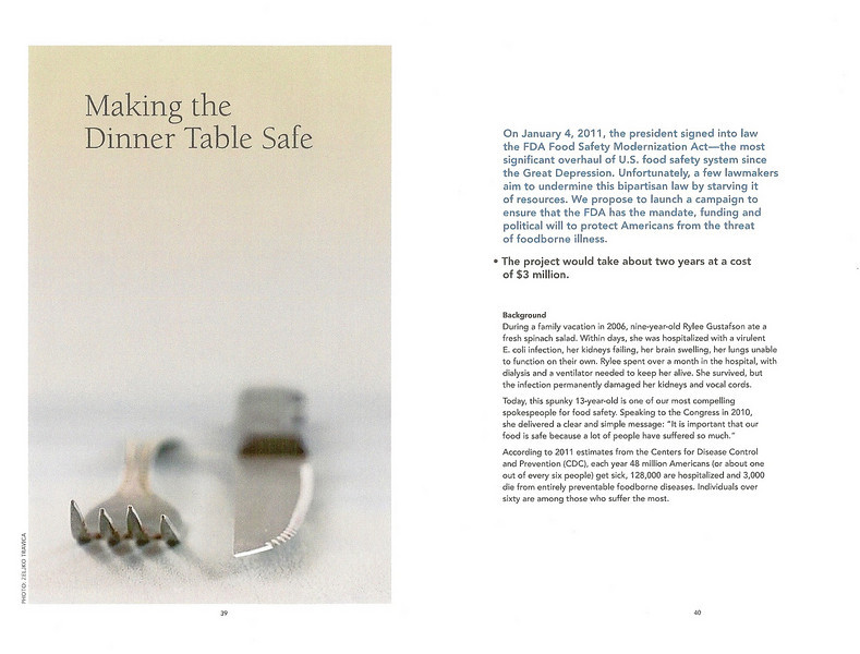 A company in the USA was working with The PEW Charitable Trusts, a non profit organization, used one of my photos in a food safety program proposal they put together.