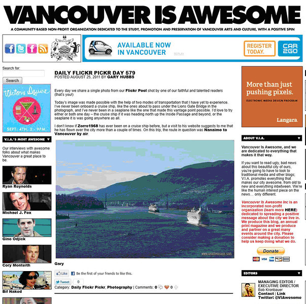 One of my photos was featured in this online magazine in August 2011.
