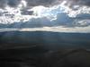 Sunburst above Paulina Peak and Newberry Crater.