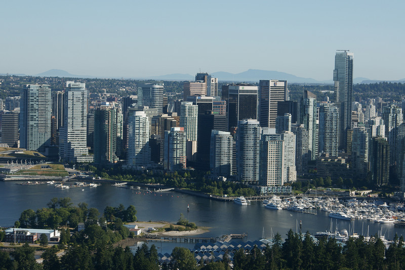 Vancouver as seen from the air.