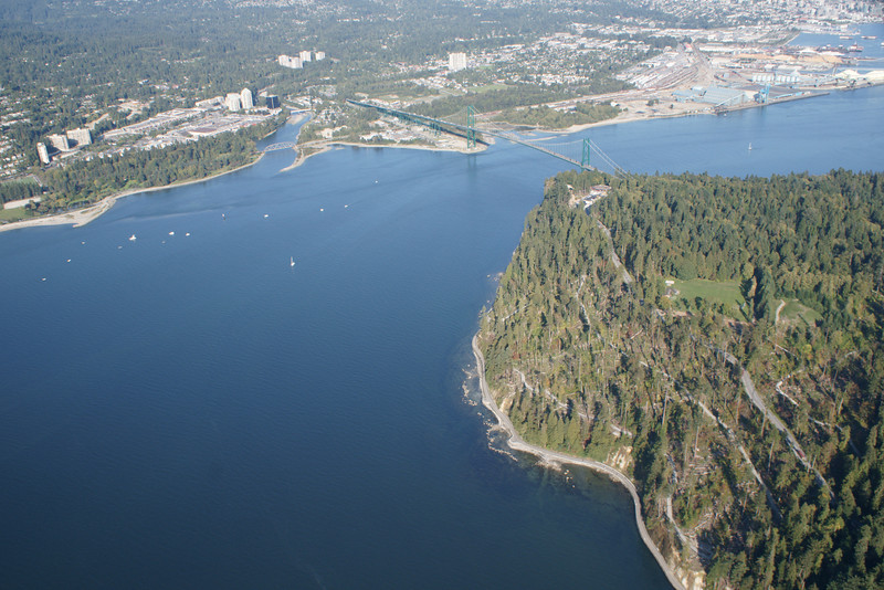 Stanley Park and Lions Gate Bridge