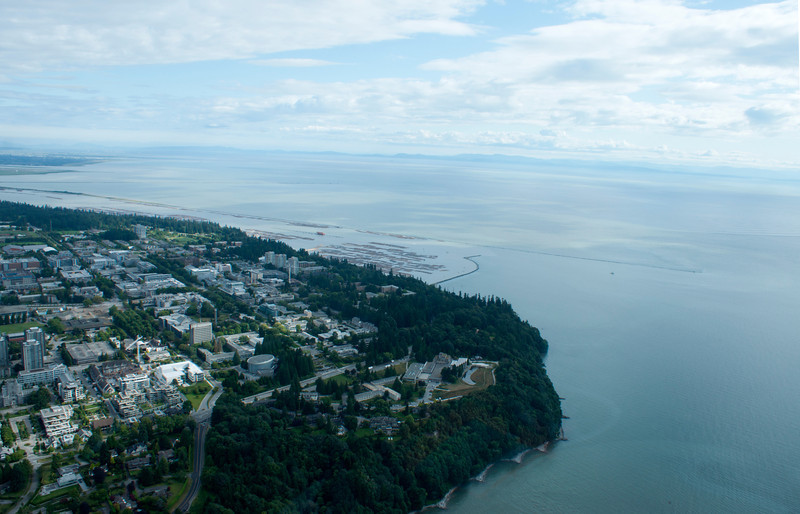 Point Grey and UBC from the air.
