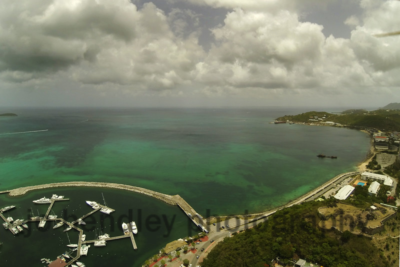Marigot SXM from the sky