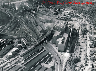 """Weirton Steel Company in Weirton, WV - 1983.  Weirton Steel Company......A """"Mighty Giant"""" that was destroyed by politicians, corporate executives and managers, lawyers, and union officials."""