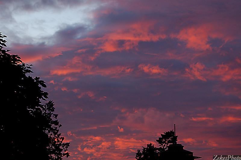 Fall Sunset Over Magnolia