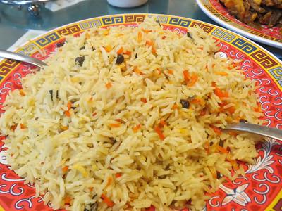 Basamait ( bariis ?) Rice served at Somolian Restaurant in St. Cloud, Minnesota  http://whatsnewinthevillage.com/2009/08/13/somali-bariis-and-hilib-ari/  more... http://african.goodnewseverybody.com/somolian.html