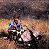 Brad with a typical and unexceptional gemsbok in Namibia.