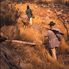 Here, Dad, mother and Volker Grellman hunt for gemsbok or mountain zebra in Namibia in country much resembling that of the Sonoran Desert in Arizona and Northern Mexico. 1972