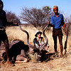Mother with her near-record 60-inch kudu from Nambia in 1972.