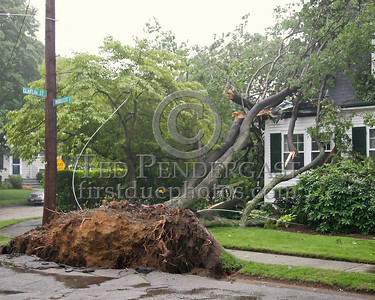 This Tree Destroyed A Second Floor Porch On Middlecot St In Belmont,Mass.