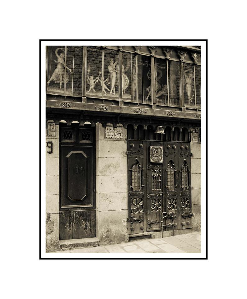 """Galerias - Barcelona""<br /> <br /> Photograph: 8""x10.66"" archival gelatin silver print<br /> Frame: 16""x20"" white matte w/ black core, black metal frame"
