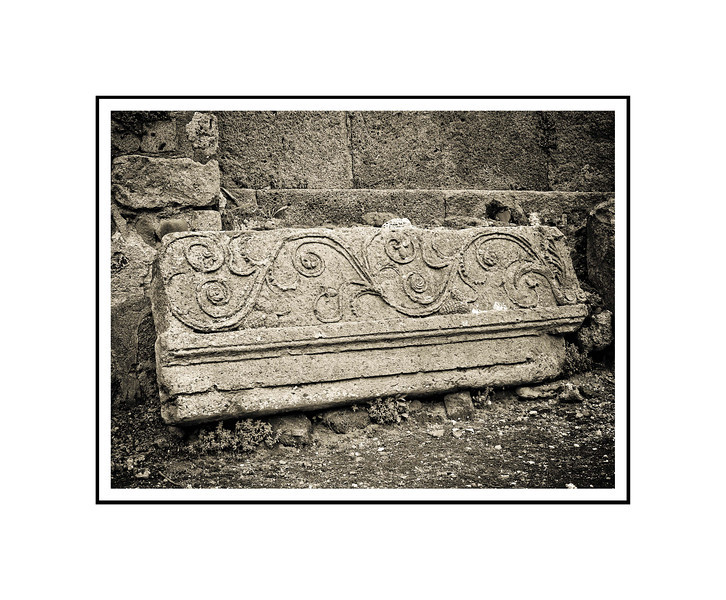 """Frieze #2 - Pompeii""<br /> <br /> Photograph: 10.66""x8"" archival gelatin silver print<br /> Frame: 20""x16"" white matte w/ black core, black metal frame"