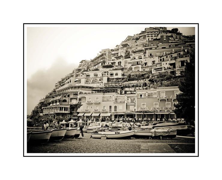"""""""Amalfi""""<br /> <br /> Photograph: 14.66""""x11"""" archival gelatin silver print<br /> Frame: 24""""x18"""" white matte w/ black core, black metal frame"""