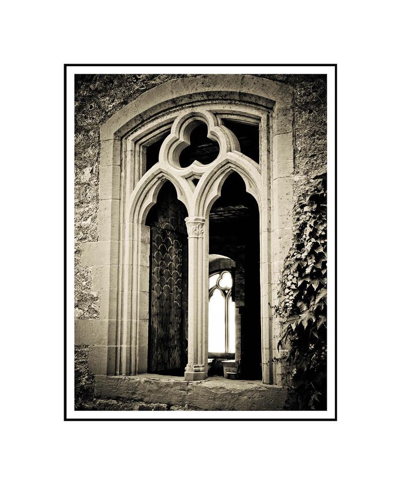 """Chateau de Chillon""<br /> <br /> Photograph: 8""x10.66"" archival gelatin silver print<br /> Frame: 16""x20"" white matte w/ black core, black metal frame"