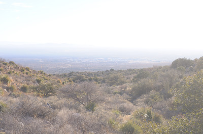 Aguirre Springs Recreation Area (BLM)....smog At WSMR