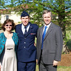 Mom, Brian, and dad, after completion of Officer Training.