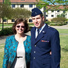 Mom and Brian after the completion of Officer Training.