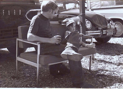 AF friends - Summer 1971, our front yard, North Pole, AK  Dicky Morrel  & Jenny