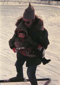 Dicky Morell & Jenny, at Eielson ski area, march 1972