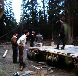 Building the raft, june 1971