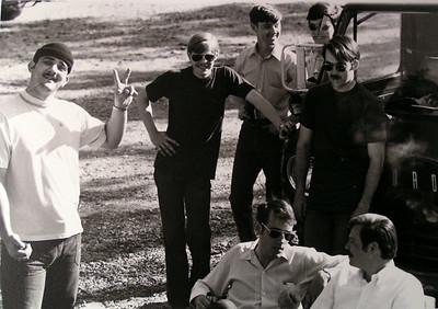 air force friends, jerry schnell, Herb Lottier, don wood, dick aiken - north pole, alasks, july 1971