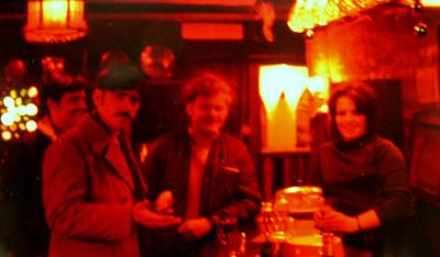Cambridge, UK, mar 1971  Steve Gleinser, Jeff Whalen, Dicky Morrel