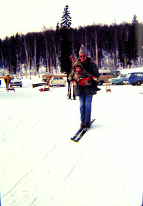 Dicky Morell & Jenny, at Eielson ski area, march 1972a
