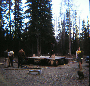Building the raft, may 1971