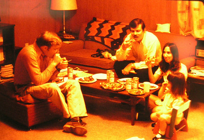 Dicky Morell and Chet Aiken, jan & jenny, our apt, North Pole, winter 1972 PICT0020