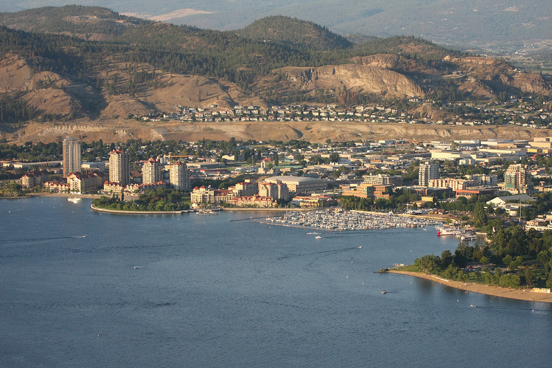 Downtown Kelowna from the air