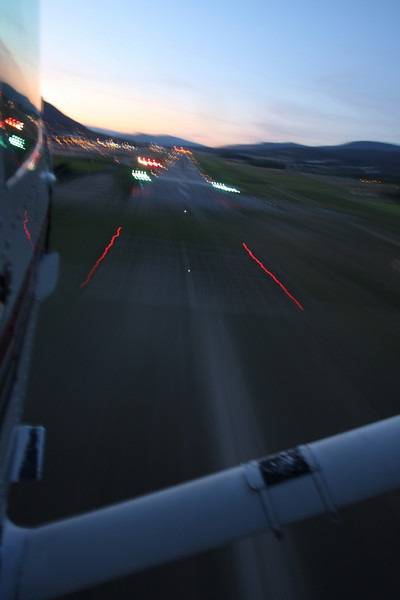 A long exposure during landing