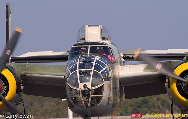 B25 Mitchell taxiing.