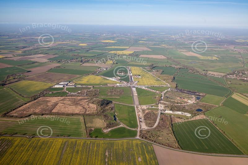 Aerial photo of Breighton Airfield.