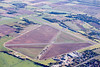 An aerial photo of Gamston Retford Airport in Nottinghamshire.
