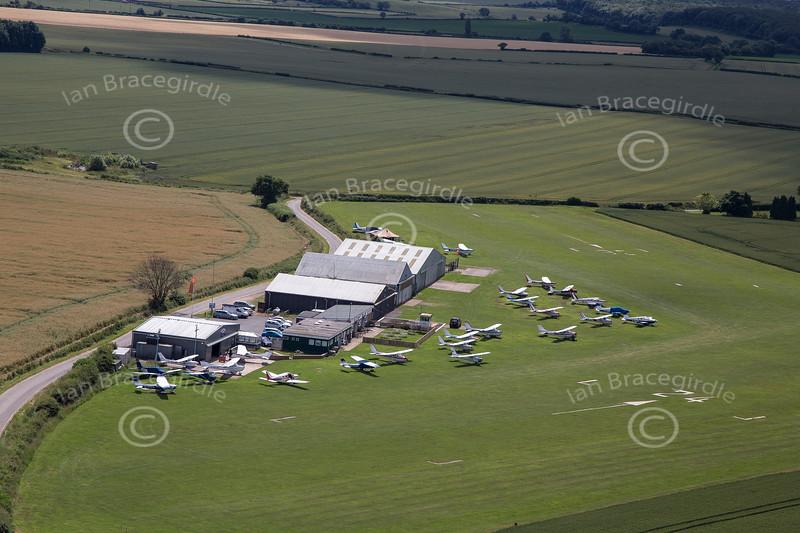 Aerial photo of Netherthorpe Airfield.