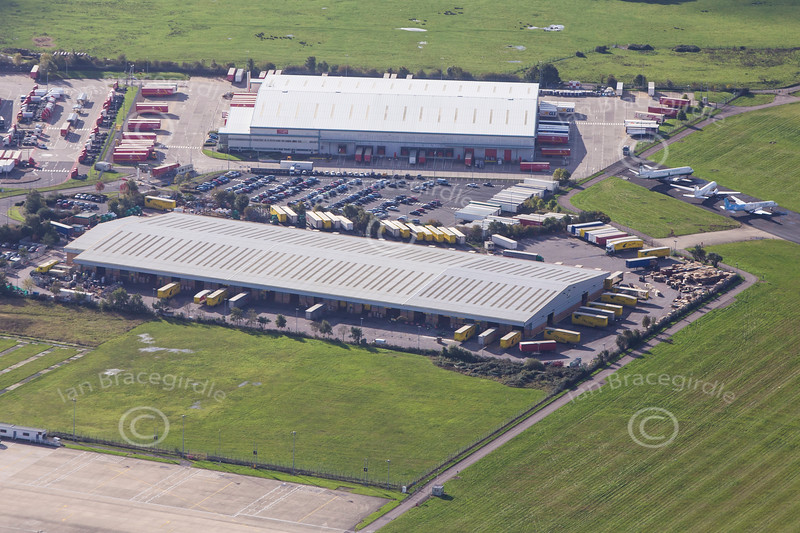 Aerial photo of Coventry Airpark Industrial Area in Warwickshire.