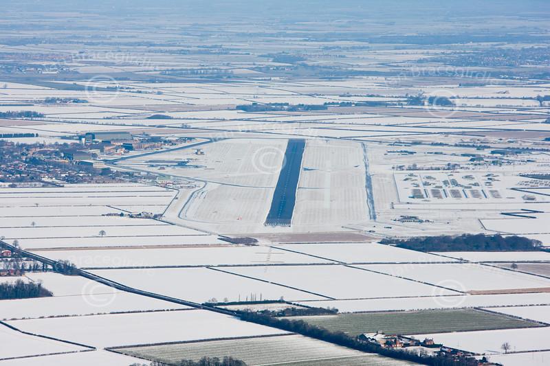 Aerial photo of RAF Waddington in Lincolnshire.