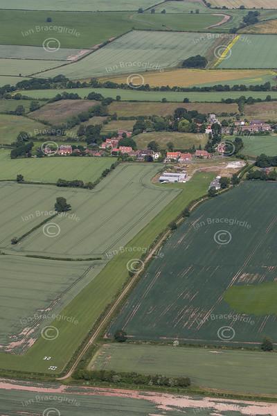 Aerial photo of Headon Airfield.
