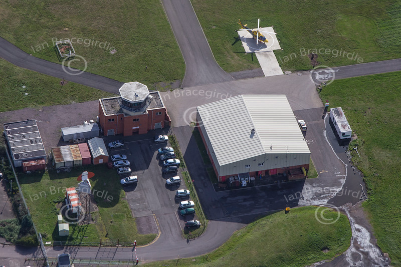 Aerial photo of Coventry Airport in Warwickshire.