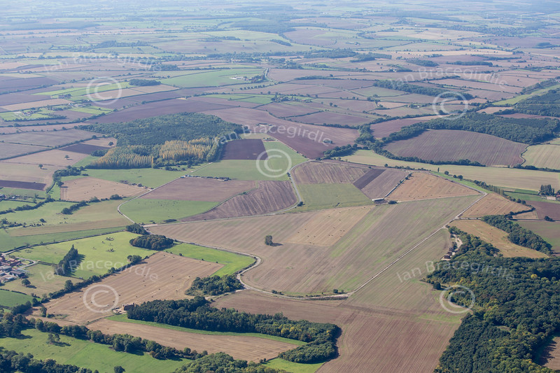 An aerial photo of the former World War Two Ossington Aerodrome in Nottinghamshire.
