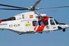 Helicóptero Agusta Westland 139 de Salvamento Marítimo (Ministerio de Fomento) de prácticas en las costas de Cádiz