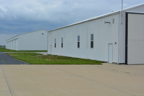 Here are some of the hangars at Effingham County Memorial Airport.