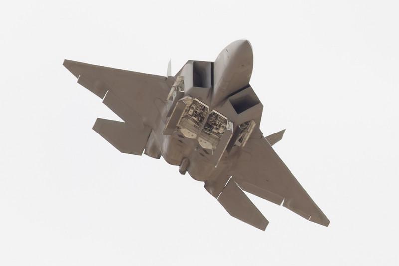 F-22 with bomb doors open