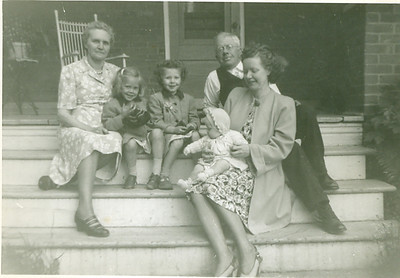 Grandma and Grandpa's porch in Holstein, 1949.